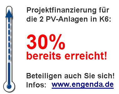 EnGenDa - Projektfinanzierung 30vH erreicht