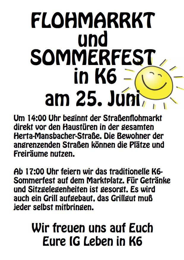 Sommerfest und Flohmarkt 2016